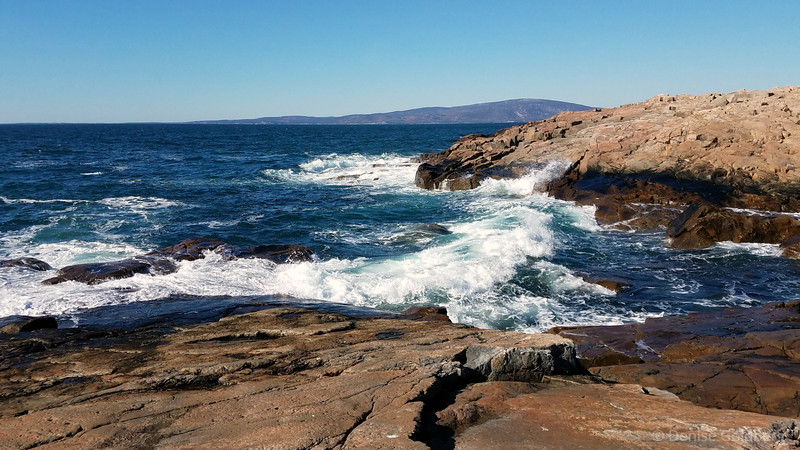 rolling waves at the tip of the Schoodic Peninsula