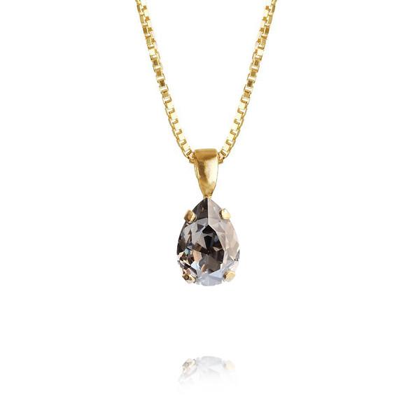 Petite Drop Necklace / Black Diamond