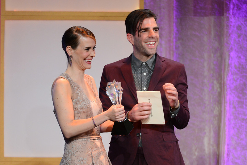 . Actors Sarah Paulson and Zachary Quinto speak onstage during Broadcast Television Journalists Association\'s third annual Critics\' Choice Television Awards at The Beverly Hilton Hotel on June 10, 2013 in Los Angeles, California.  (Photo by Mark Davis/Getty Images for CCTA)