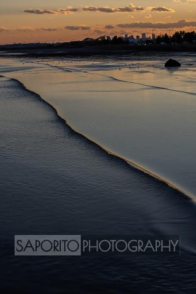 Sunset on King's Beach, Lynn, MA