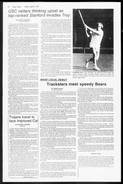 Daily Trojan, Vol. 67, No. 100, April 04, 1975