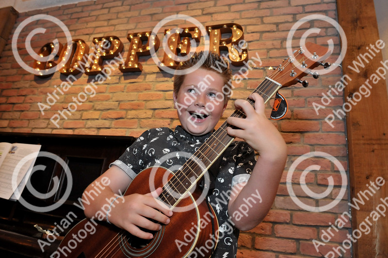10 year old Alfie Catto performing his set of covers at Copper Bar Swansea on Friday night.