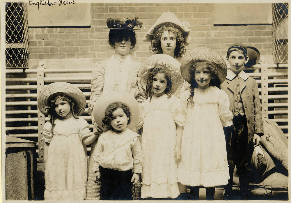 Description of . Jewish family from England posing for the camera. (NPS photo)