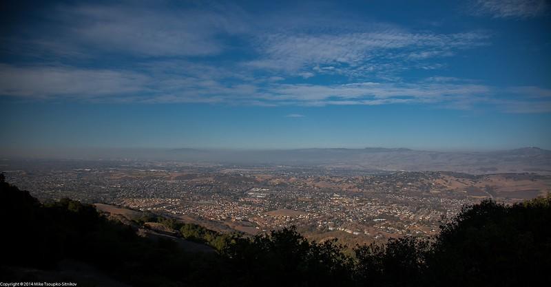 A View over San Jose from Almaden Quicksilver Park