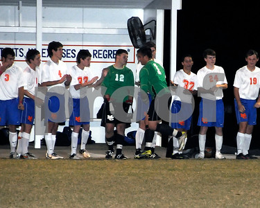 Marshall County Boys Soccer vs. Henderson County Sub-State Game, October 23, 2012. Marshals Lost 2-0.