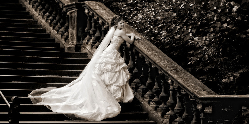 Wedding Photographs Princes Street Gardens
