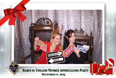 Babes in Toyland Member Party 12.11.15 @ House of Blues