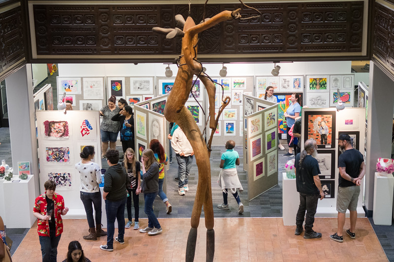 The Mary and Jeff Bell Library welcomes guests from the community to the exhibit and closing reception of the 2018 CCISD Youth Art Show.  View pictures of some of the artworks from the 2018 CCISD Youth Art Show: http://bit.ly/2GoIeAG