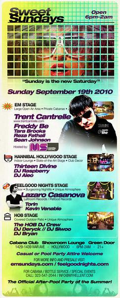 Sweet Sundays @ Cabana Club-Hollywood  9.19.10