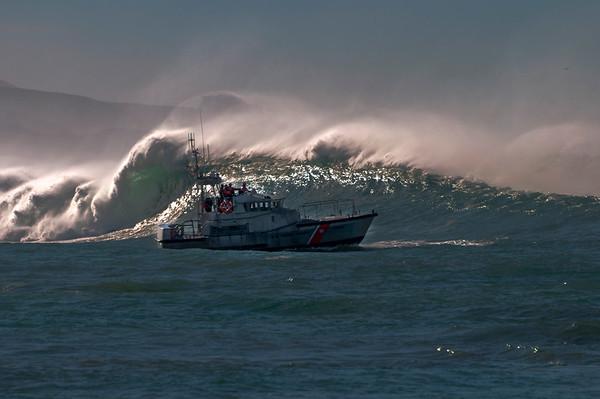 U.S. Coast Guard and Morro Bay Harbor Patrol