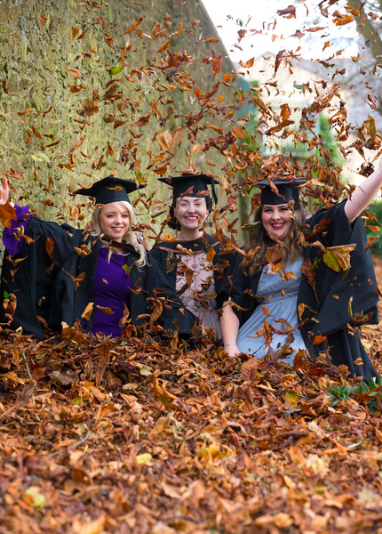 02/11/2017. FREE TO USE IMAGE. WIT (Waterford Institute of Technology) Conferring, Waterford City are Laura Dee, Dungarvan and Orla Hayes, Waterford and Lynn Evans, Waterford who graduated Bachelor of Arts Honours in Marketing. Picture: Patrick Browne