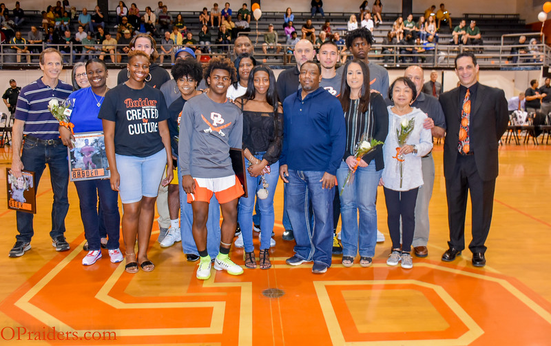 OP Basketball Senior Night 2019