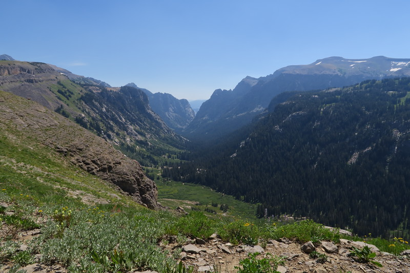 Looking down Death Canyon toward Jackson Hole