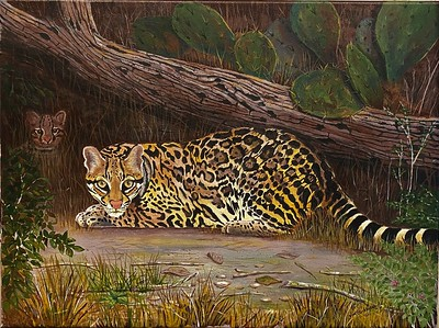"""Treasures of the Refuge"" (acrylic on canvas) by James Burkholder"