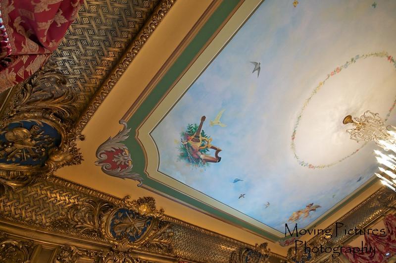 Laurel Court - Ceiling detail in music room