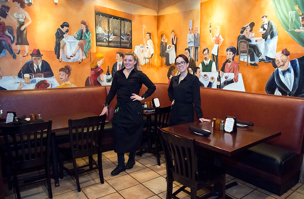 02/24/20 Wesley Bunnell | StaffrrServer's Natalia Giacco and Riley Trowbridge are shown inside of a corner seating area at Anthony Jack's Restaurant located at 30 Center St in Southington.