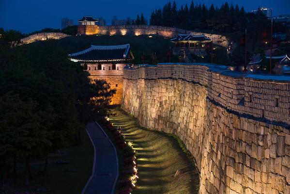 Hwaseong Fortress Nighttime