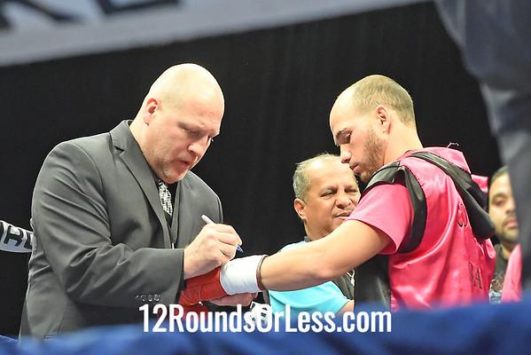 Bout 4 Dennis Galarza(Red Corner), Brooklyn, NY -vs- Miguel Soto(Blue Corner), Arecibo, P.R., Featherweights