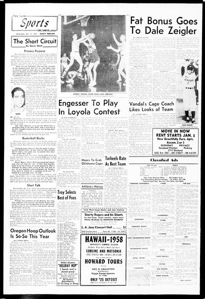 Daily Trojan, Vol. 49, No. 53, December 11, 1957