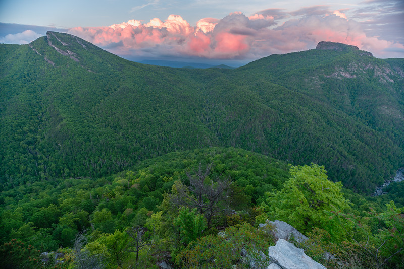 Sunset Over Linville Gorge from Wiseman's View