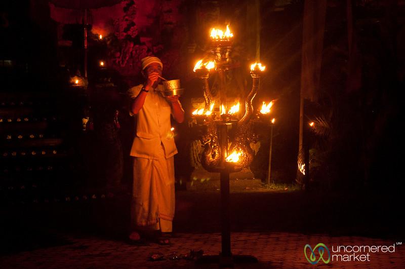 Blessing Before Kecak Show - Ubud, Bali