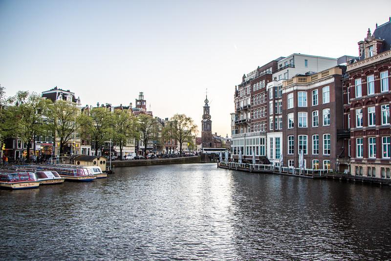 The Amstel and Munttoren