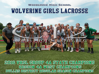 2016 Woodgrove Girls Lacrosse State Champions
