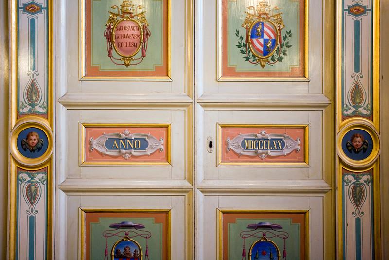 Painted wooden door, Saint John Lateran, Rome