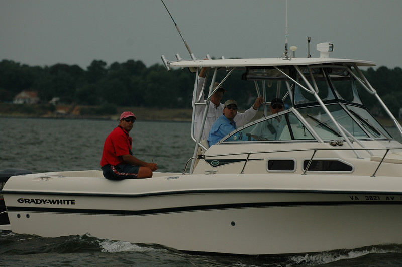 Judges' boat with Angelo Buscemi and Mason Chapman
