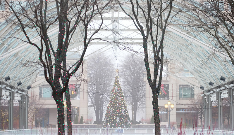 Reston Town Center at Christmastime