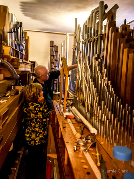 Inside a Pipe Organ