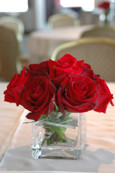 Vase of roses $35