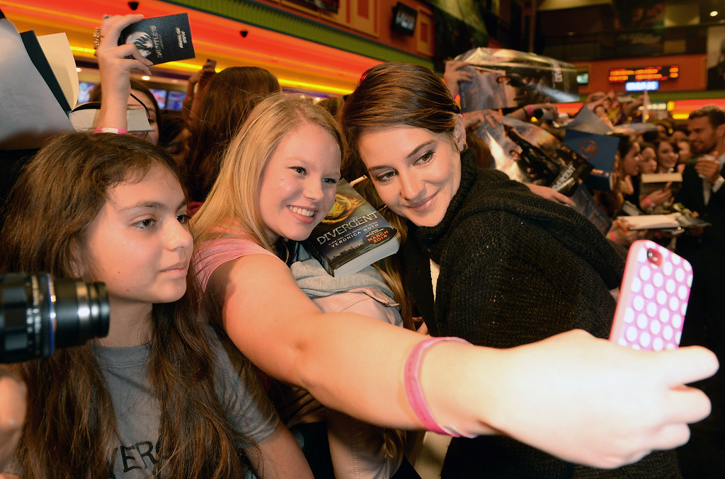 . Actor Shailene Woodley, Divergent makes a personal appearance at Regal Atlantic Station on March 3, 2014 in Atlanta, Georgia.  (Photo by Rick Diamond/Getty Images for Allied-THA)
