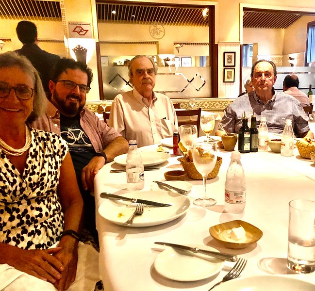 family at Rodeio Restaurant - celebrating Reynaldo's bday.