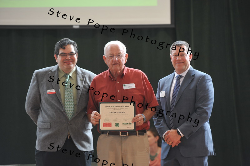 Deane Adams, of Marshall County, was inducted in the 2017 Iowa 4-H Hall of Fame at the Iowa State Fair on Aug. 20. (Iowa State Fair/ Steve Pope Photography)