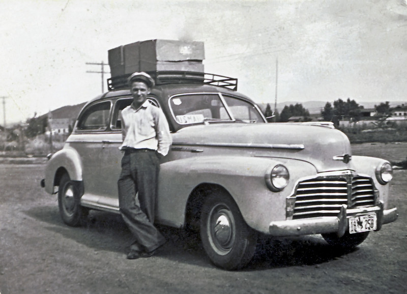 Wayne and 1942 Chevrolet.jpg