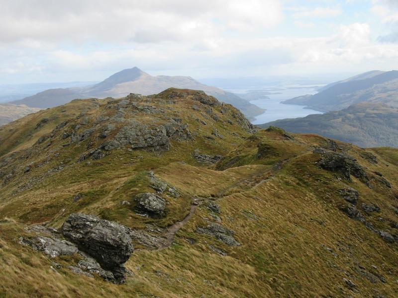Descending Ben Vorlich by the tourist path