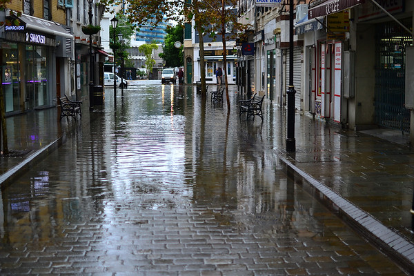 Parts of Gibraltar flooded by intense rains