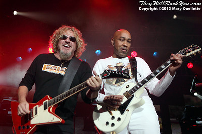 Sammy Hagar and the Wabos<br> October 25, 2013 <br>Tsongas Center - Lowell, MA <br> Photos by: Mary Ouellette