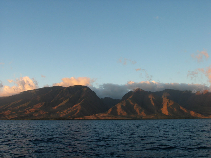 View of Maui from ADAGIO in the Alalakeiki Channel