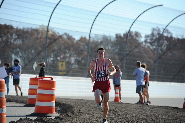D2 Boys at 2.3 Miles Section 2 - 2020 MHSAA LP XC Finals