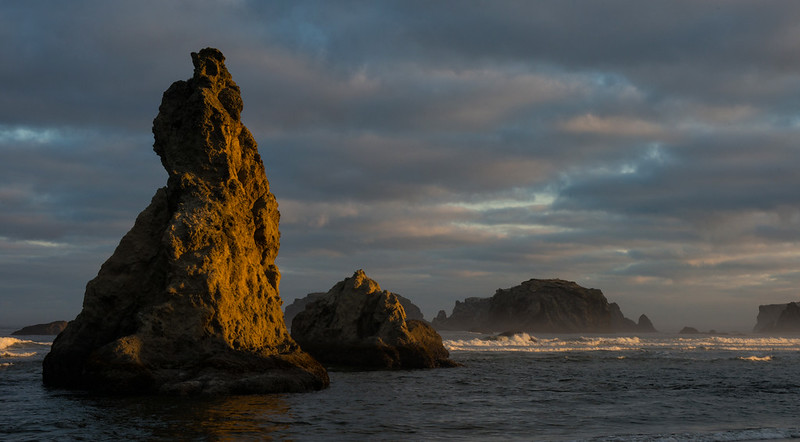 Sea Stacks in the evening light