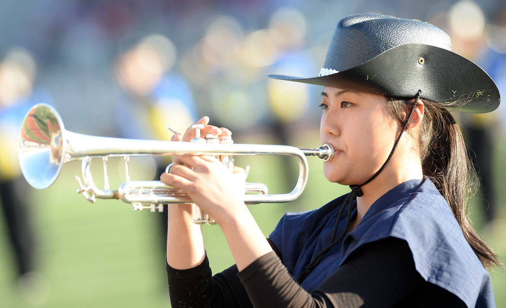 . The Nagoya Minami High School Green Band from Nagoya, Aichi, Japan performs during the 34th Annual Pasadena Tournament of Roses Bandfest at Pasadena City College on Monday December 30, 2013. (Staff Photo by Keith Durflinger/Pasadena Star-News)