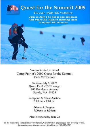 Pre-Summit Dinner with Ed Viesturs