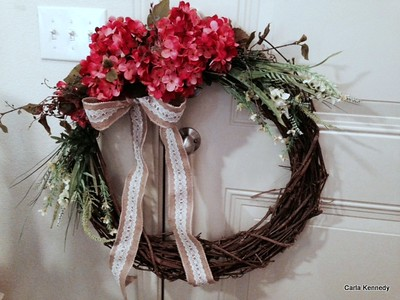 2014 08-09 Pam and My's Wreath we made for Spenser