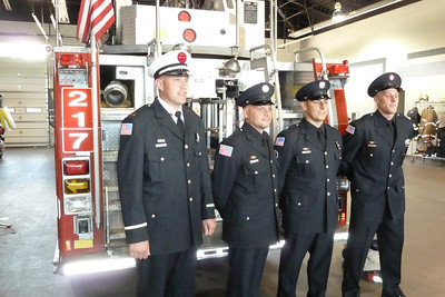 Carol Stream Fire District badge and awards ceremony