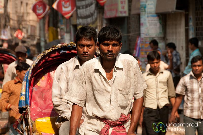 Rickshaw Driver and Street Scene - Old Dhaka, Bangladesh