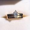 0.36ct Vintage Marquise Wedding Set 13