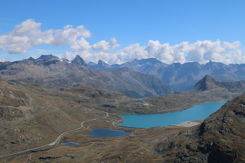 View from Munt Pers to Bernina Diavolezza and Morteratasch areas