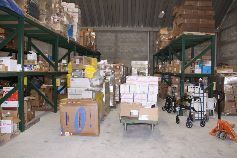 Three Dole Containers for Medical Missions